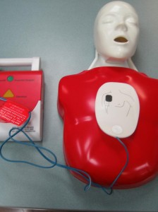 AED Pad on a Child CPR Mannequin
