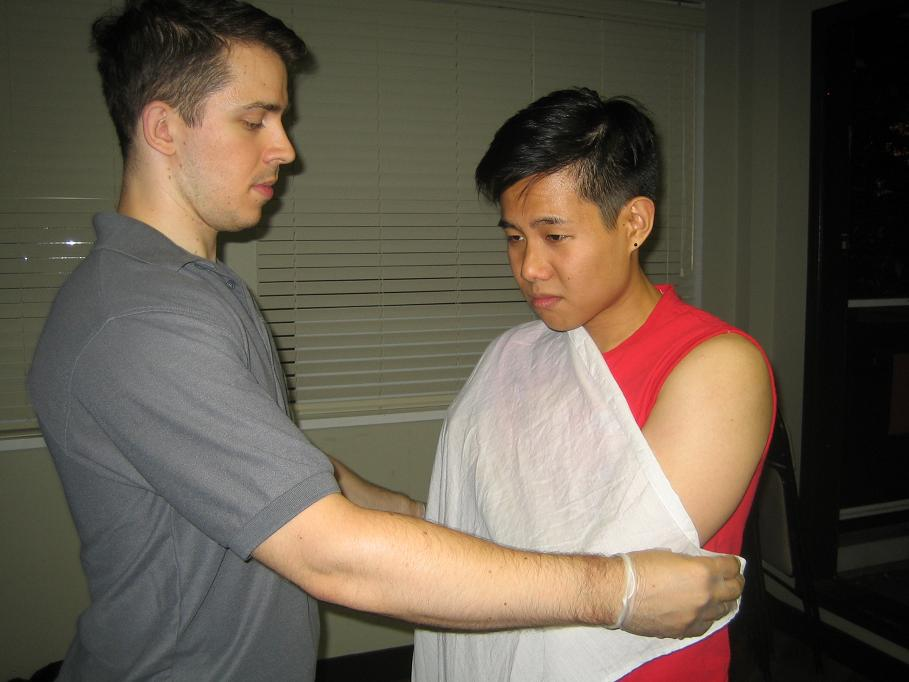 Basic first aid classes include skill development in injury immobilization.
