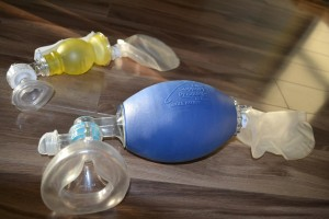Adult and pediatric bag valve masks